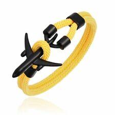 Airplane Anchor Bracelet Rope Men Women Traveler Jewelry Sport Charm Bracelets