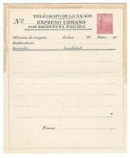 1940's? Argentina - Mint 60c Express Telegraph Stationary - Double Sided Printed