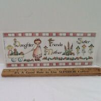"""Daughter Mother Sister Family 12"""" LARGE  STICKERS Borders SCRAPBOOKING Bo Bunny"""