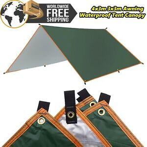 4x3m 3x3m Awning Waterproof Tarp Tent Shade Garden Canopy Sunshade Outdoor