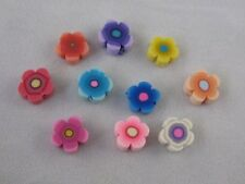 200pcs Mixed Colors fimo polymer clay flower beads 8mm W404