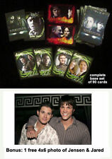 Supernatural Season 2 Card Set with 4X6 Photo Jensen Ackles Jared Padelacki