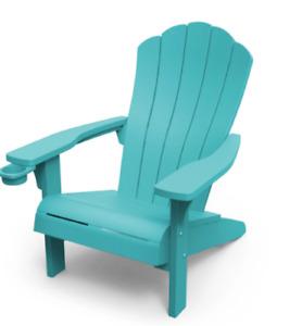 Keter Adirondack Chair Seat Indoor Outdoor Seating Furniture Garden Teal Resin
