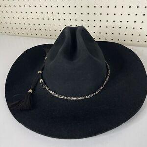 Resistol Futurity 4X Beaver Felt Black Long Oval Men Size 7 3/8 Blk Cowboy Hat
