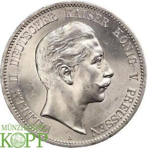 AB5232) J.104 PREUSSEN 5 Mark 1902 A Wilhelm II 1888-1918. ERHALTUNG