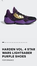 Adidas Star Wars Harden Vol. 4 Lightsamber Trainers Purple Gold Size 6 Xmas Gift