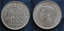MONETA COIN MONNAIE GREAT BRITAIN GRAN BRETAGNA KING GEORGE VI° SIX PENCE 1946