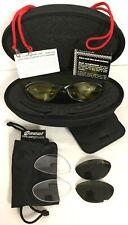 ZEAL OPTICS ZOONI Black Wrap Sunglasses Cleat Amber & Black Lenses Small Face