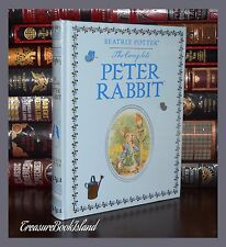 Complete Peter Rabbit by Beatrix Potter New Sealed Leather Bound Collectible Ed