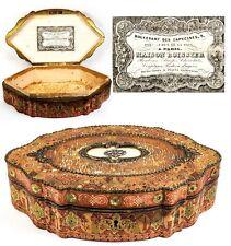 """Antique """"Boissier"""" Label French Chocolatier's Chocolates or Bonbon Box, Casket"""