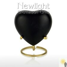 Classic Black (3inch Heart), Keepsake Urns, Heart Keepsakes, Mini Urns