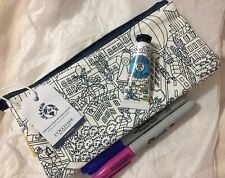 L'Occitane Coloring Cotton Divided Bag W/ Sharpies & Dry Skin Hand Cream!