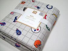 Pottery Barn Teen NFL AFC American Foot Ball League Logos Queen Sheet Set New