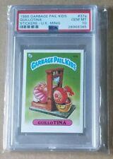 1986 Garbage Pail Kids Guillotina U.K. Minis PSA 10 pop 3