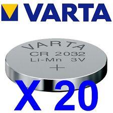 Lot de 20 piles VARTA CR2032 Lithium 3 Volts 230 mah neuves