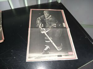montreal canadiens vintage jean claude tremblay  # 3 black & white poster very