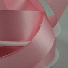 Cinta de raso rosa 12-15mm libre P/&p ** nuevo ** color de rosa caliente paquete De 25