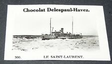 PHOTO CHOCOLAT DELESPAUL-HAVEZ 1950 CANADA QUEBEC FLEUVE SAINT LAURENT