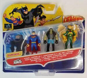Justice League Action Mighty Minis 3pk Superman Lobo Hawkman New damaged box