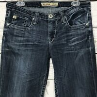 Big Star Womens SZ 29 Jeans Casey Blue Distressed Stretch Low-Rise Bootcut Flare