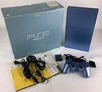 Sony PlayStation 2 PS2 Console Aqua Blue w/Box From Japan Free Shipping