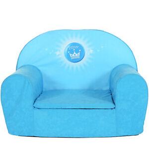 Kindersessel Minisessel Kinder Mini Sofa Kinderzimmer Kinderstuhl Prince Blau