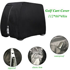 4 Passenger Golf Cart Cover Waterproof Zippered Portable for with Portable Bag
