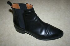 SARTORE Paris Women's Black Leather Chelsea Ankle Boots  Sz 38 1/2