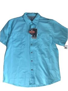 New w/ Tags $55 Bass And Co. Men Outdoors Blue Shirt Performance Sunblocker Boat