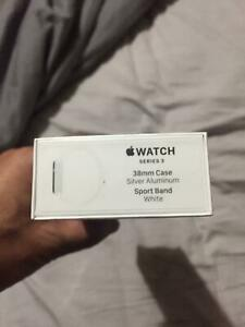 Brand New Sealed Apple Watch Series 3  38mm white
