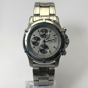 Festina Mens 8874 Silver Stainless Steel Date Indicator Chronograph Wristwatch