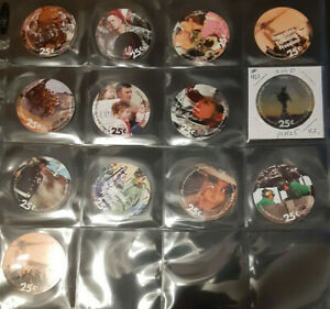 14th  Print 25 Cent  Set of AAFES  Pogs Very Fine - About Uncir.  from 2010