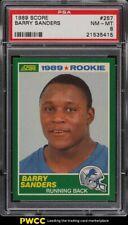 1989 Score Football Barry Sanders ROOKIE RC #257 PSA 8 NM-MT