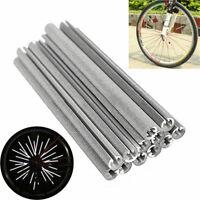 12Pc Bike Cycling Wheel Spoke Reflector Bicycle Reflective Mount Clip Tube Strip