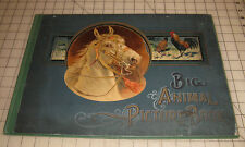 1902/1903 BIG ANIMAL PICTURE BOOK - Beautiful Color Prints - H.M. Caldwell Co