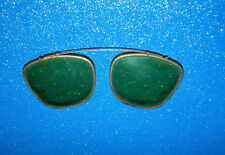 Vintage Aviator Clip On Sun Shades For Eye Glasses Polaroid Sunglasses