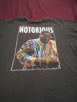 Notorious BIG Shirt Adult. Gray Biggie Smalls Hip Hop Rap Tee Mens *