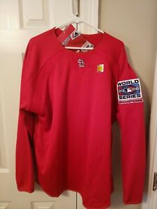 St Louis Cardinals Majestic Therma Base 2006 World Series Champions Pullover NWT