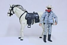 NICE VINTAGE GABRIEL LONE RANGER & SILVER HORSE ACTION FIGURE
