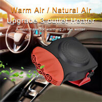 12V 150W 2 In 1 Car Van Heater Cooling Fan Window Demister Defroster 180° Rotary