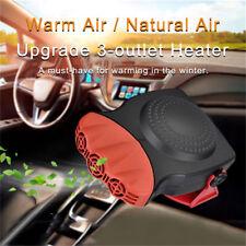 150W 12V Portable Ceramic Car Fan Heater Cooler Dryer Defroster Plugin Demister