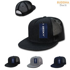 1 DOZEN DECKY 5 Panel Flat Bill Denim Trucker Baseball Caps Cap Hats WHOLESALE