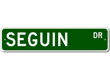 SEGUIN Street Sign - Personalized Last Name Sign