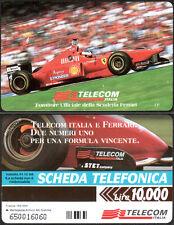SCHEDA TELEFONICA TELECOM ITALIA E FERRARI - SPECIALE MOTOR SHOW 1996