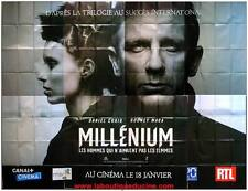 MILLENIUM Wide Movie Poster / Affiche Cinéma DANIEL CRAIG 4mx3m Décoration