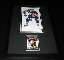 Ron Francis Signed Framed 11x17 Photo Display Penguins Stanley Cup