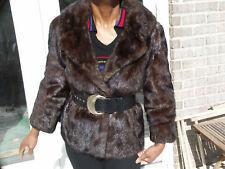 Fab! full pelt brown Mink Fur coat, jacket, bolero S-M