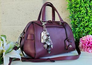 COACH Ace Satchel 37017 Burgundy glovetanned 1941 purse handbag whipstitch bag