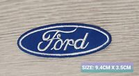 Ford Car Motor logo Badge Embroidered Iron On/Sew On Patch