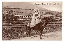 C000012    SULMONA  COSTUMI DI PETTORANO  SUL  GIZIO  ANIMATA  ASINELLO  VG 1935
